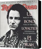 Bono Canvas Prints - Rolling Stone Cover - Volume #547 - 3/9/1989 - Bono Canvas Print by Anton Corbijn