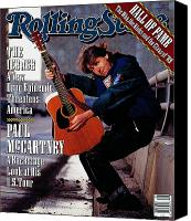 Mccartney Canvas Prints - Rolling Stone Cover - Volume #571 - 2/8/1990 - Paul McCartney Canvas Print by Timothy White