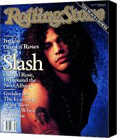Slash Canvas Prints - Rolling Stone Cover - Volume #596 - 1/24/1991 - Slash Canvas Print by Mark Seliger