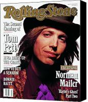Magazine Cover Canvas Prints - Rolling Stone Cover - Volume #610 - 8/8/1991 - Tom Petty Canvas Print by Mark Seliger