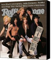 Magazine Cover Canvas Prints - Rolling Stone Cover - Volume #612 - 9/5/1991 - Guns n Roses Canvas Print by Herb Ritts