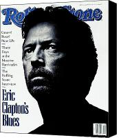 Clapton Canvas Prints - Rolling Stone Cover - Volume #615 - 10/17/1991 - Eric Clapton Canvas Print by Albert Watson