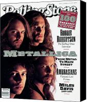 Cover Canvas Prints - Rolling Stone Cover - Volume #617 - 11/14/1991 - Metallica Canvas Print by Mark Seliger