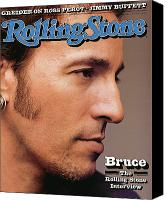 Springsteen Canvas Prints - Rolling Stone Cover - Volume #636 - 8/6/1992 - Bruce Springsteen Canvas Print by Herb Ritts