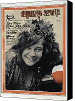 Magazine Cover Canvas Prints - Rolling Stone Cover - Volume #64 - 8/6/1970 - Janis Joplin Canvas Print by Tony Lane