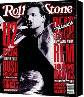Bono Canvas Prints - Rolling Stone Cover - Volume #640 - 10/1/1992 - Bono Canvas Print by Neal Preston