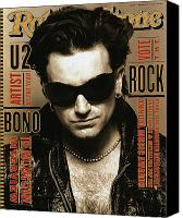 Magazine Cover Canvas Prints - Rolling Stone Cover - Volume #651 - 3/4/1993 - Bono Canvas Print by Andrew MacPherson