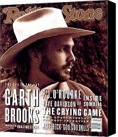 Magazine Cover Canvas Prints - Rolling Stone Cover - Volume #653 - 4/1/1993 - Garth Brooks Canvas Print by Kurt Markus