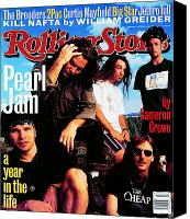Magazine Cover Canvas Prints - Rolling Stone Cover - Volume #668 - 10/28/1993 - Pearl Jam Canvas Print by Mark Seliger