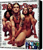 Melon Canvas Prints - Rolling Stone Cover - Volume #669 - 11/11/1993 - Blind Melon Canvas Print by Mark Seliger