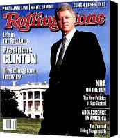 Clinton Photo Canvas Prints - Rolling Stone Cover - Volume #671 - 12/9/1993 - Bill Clinton Canvas Print by Mark Seliger