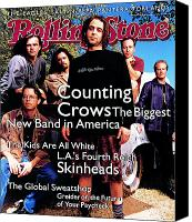 Crows Canvas Prints - Rolling Stone Cover - Volume #685 - 6/30/1994 - Counting Crows Canvas Print by Mark Seliger
