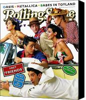 Friends Canvas Prints - Rolling Stone Cover - Volume #708 - 5/18/1995 - Cast of Friends Canvas Print by Mark Seliger