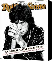Magazine Cover Canvas Prints - Rolling Stone Cover - Volume #723 - 12/14/1995 - Mick Jagger Canvas Print by Peter Lindbergh