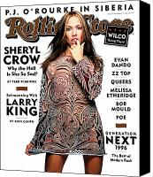 Crow Canvas Prints - Rolling Stone Cover - Volume #747 - 11/14/1996 - Sheryl Crow Canvas Print by Mark Seliger
