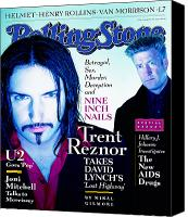 David Lynch Canvas Prints - Rolling Stone Cover - Volume #755 - 3/6/1997 - Trent Reznor and David Lynch Canvas Print by Dan Winters
