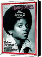 Magazine Cover Canvas Prints - Rolling Stone Cover - Volume #81 - 4/29/1971 - Michael Jackson Canvas Print by Henry Diltz