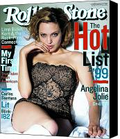 Jolie Canvas Prints - Rolling Stone Cover - Volume #819 - 8/19/1999 - Angelina Jolie Canvas Print by Mark Seliger