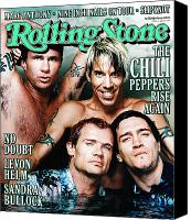 Magazine Cover Canvas Prints - Rolling Stone Cover - Volume #839 - 4/27/2000 - Red Hot Chili Peppers  Canvas Print by Martin Schoeller