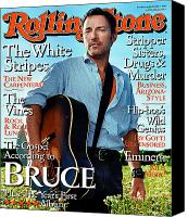 Springsteen Canvas Prints - Rolling Stone Cover - Volume #903 - 8/20/2002 - Bruce Springsteen Canvas Print by Martin Schoeller