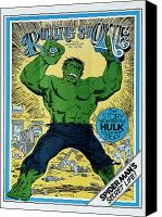 Hulk Canvas Prints - Rolling Stone Cover - Volume #91 - 9/16/1971 - The Incredible Hulk Canvas Print by Herb Trimpe