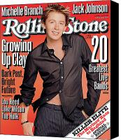 Clay Canvas Prints - Rolling Stone Cover - Volume #926 - 7/10/2003 - Clay Aiken Canvas Print by Matthew Rolston