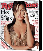 Jolie Canvas Prints - Rolling Stone Cover - Volume #928 - 8/7/2003 - Angelina Jolie Canvas Print by Matthew Rolston
