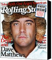 Magazine Cover Canvas Prints - Rolling Stone Cover - Volume #940 - 1/22/2004 - Dave Matthews Canvas Print by Martin Schoeller