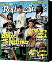 Magazine Cover Canvas Prints - Rolling Stone Cover - Volume #976 - 6/16/2005 - Dave Matthews Band Canvas Print by Martin Schoeller