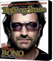 Bono Canvas Prints - Rolling Stone Cover - Volume #986 - 11/3/2005 - Bono Canvas Print by Platon