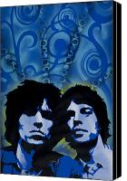 Culture Painting Canvas Prints - Rolling Stones Canvas Print by Iosua Tai Taeoalii