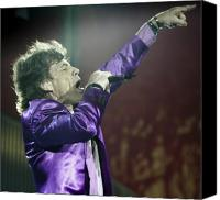 Perform Canvas Prints - Rolling Stones X Canvas Print by Rafa Rivas