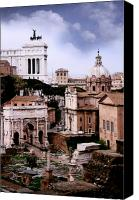 Empire Photo Canvas Prints - Roman Forum Canvas Print by Traveler Scout