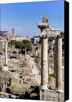 Ruin Canvas Prints - Roman forum. Rome Canvas Print by Bernard Jaubert