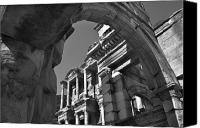 Library Canvas Prints - Roman Library Canvas Print by Terence Davis