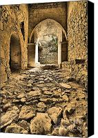 Cobbles Canvas Prints - Roman Road Canvas Print by David Letts