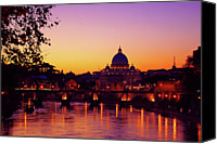Arch Bridge Canvas Prints - Roman Sunset Canvas Print by Karl Borg
