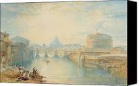 Capital City Canvas Prints - Rome Canvas Print by Joseph Mallord William Turner