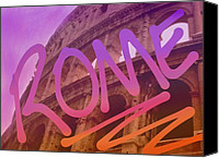 Rome Mixed Media Canvas Prints - Rome Canvas Print by Spencer Hudon II