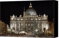 Basilica Canvas Prints - Rome Vatican Canvas Print by Joana Kruse