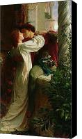 Kissing Canvas Prints - Romeo and Juliet Canvas Print by Sir Frank Dicksee
