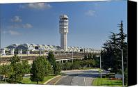 Airport Terminal Canvas Prints - Ronald Reagan National Airport Canvas Print by Brendan Reals
