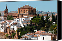 Catholic Church Canvas Prints - Ronda. Andalusia. Spain Canvas Print by Jenny Rainbow