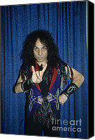 Rich Fuscia Canvas Prints - Ronnie James Dio Backstage Canvas Print by Rich Fuscia