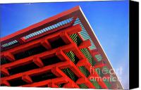 Pavilion Canvas Prints - Roof Corner - Expo China Pavilion Shanghai Canvas Print by Christine Till