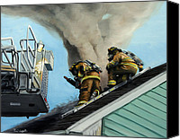 Paul Walsh Canvas Prints - Roof Is Open Canvas Print by Paul Walsh
