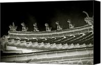 Mythology Canvas Prints - Roof National Palace Museum Taiwan City - Taipei  Canvas Print by Christine Till
