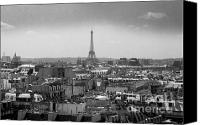 Outdoor Photo Canvas Prints - Roof of Paris. France Canvas Print by Bernard Jaubert