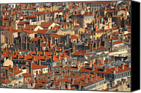 Lyon Canvas Prints - Roofs Of Houses Canvas Print by Copyrights by Sigfrid López