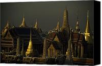 Setting Canvas Prints - Roofs, Spires, And Steeples Canvas Print by Paul Chesley